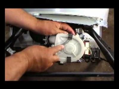 Comprobar el motor de una lavadora Whirlpool de transmisión directa
