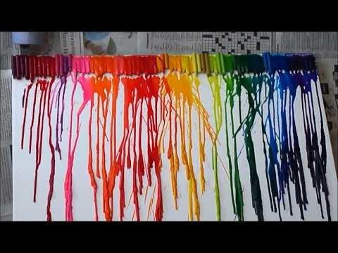 """Cuadro """"Explosión de Color"""" (crayola) en 30 minutos"""