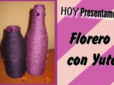 ♥ Decora tu cuarto :Florero con Yute. DIY y Recicla !!