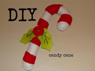 DIY- Como hacer un bastón de caramelo en fieltro (BBarte1)