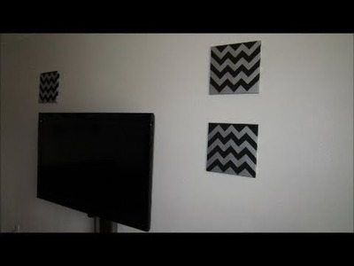 DIY!!! DECORA CUADROS CHEVRON FACILES!!!