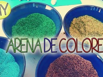 DIY - Trae la playa a tu casa (Aprende a colorear arena)