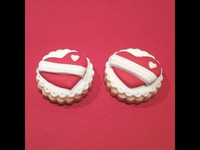 Galletas decoradas para San Valentín muy fáciles. Galletas corazón.