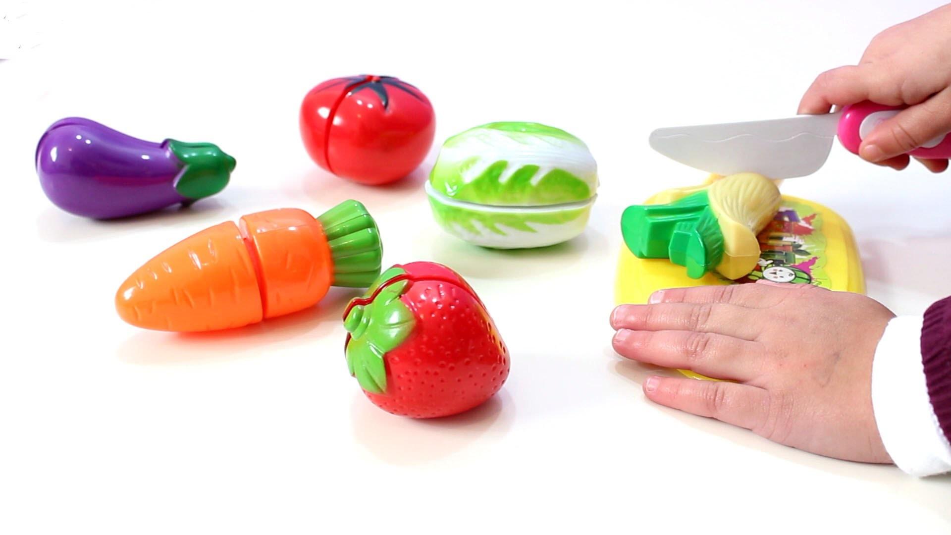 Juguete con Frutas y Verduras para jugar a las cocinitas - Toy kitchen with fruits and vegetables