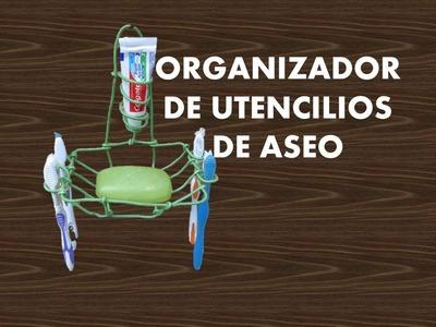 MANUALIDADES - Como hacer un organizador - RECICLAJE