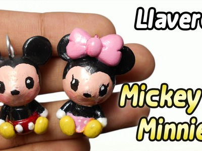 Mickey and Minnie Polymer Clay Tutorial | Llaveros | Porcelana Fria