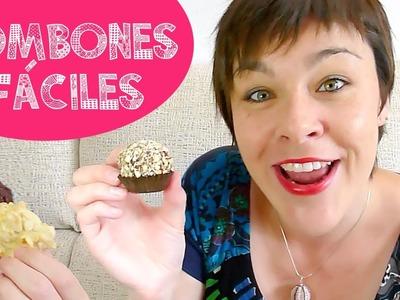 RECETA BOMBONES FÁCILES Ferrero Rocher y Rocas  ♥ Qué cositas