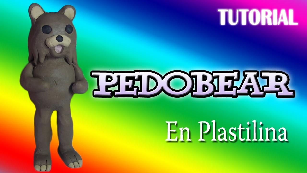 Tutorial Pedobear en Plastilina. How to make a Pedobear with Clay