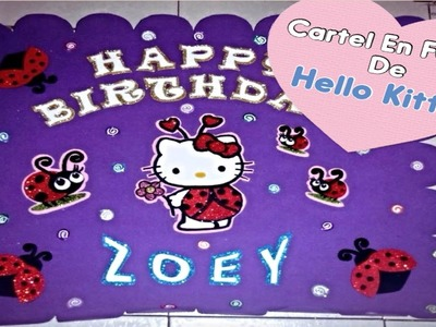 Cartel Para Fiesta De Hello Kitty (( Lady Bug ))