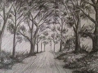 Cómo dibujar un sencillo paisaje a lápiz,aprender a dibujar bocetos de paisajes a lápiz