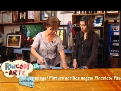 Como hacer falso mosaico en una caja para el Té