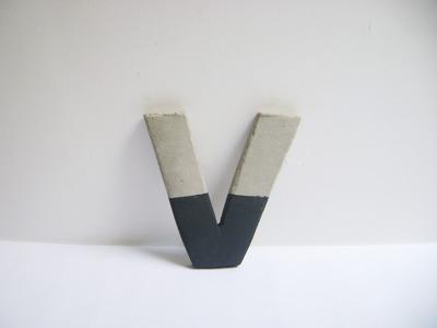 Como hacer letras con cemento