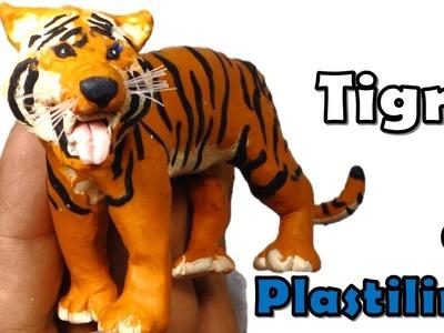 Como hacer un Tigre de plastilina. How to make a Tiger with plasticine