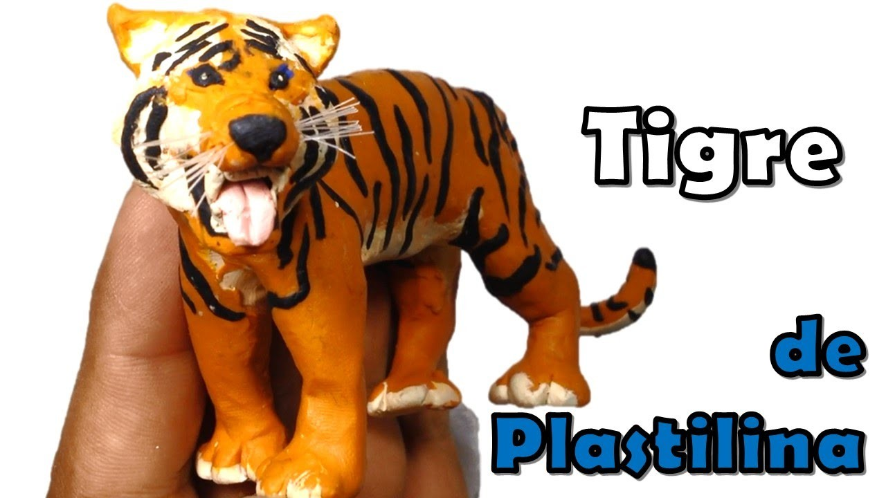 Como hacer un Tigre de plastilina. How to make a Tiger with plasticine