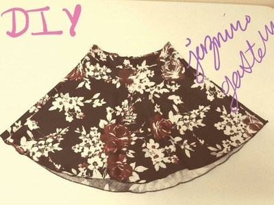 Como Hacer Una Falda Sencilla De Moda- How To Make An Easy Skirt
