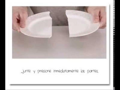 Cómo reparar un plato de porcelana? UHU Porcelain - Spanish text