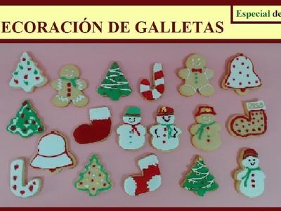 """Decoración de galletas """"Especial de Navidad"""""""