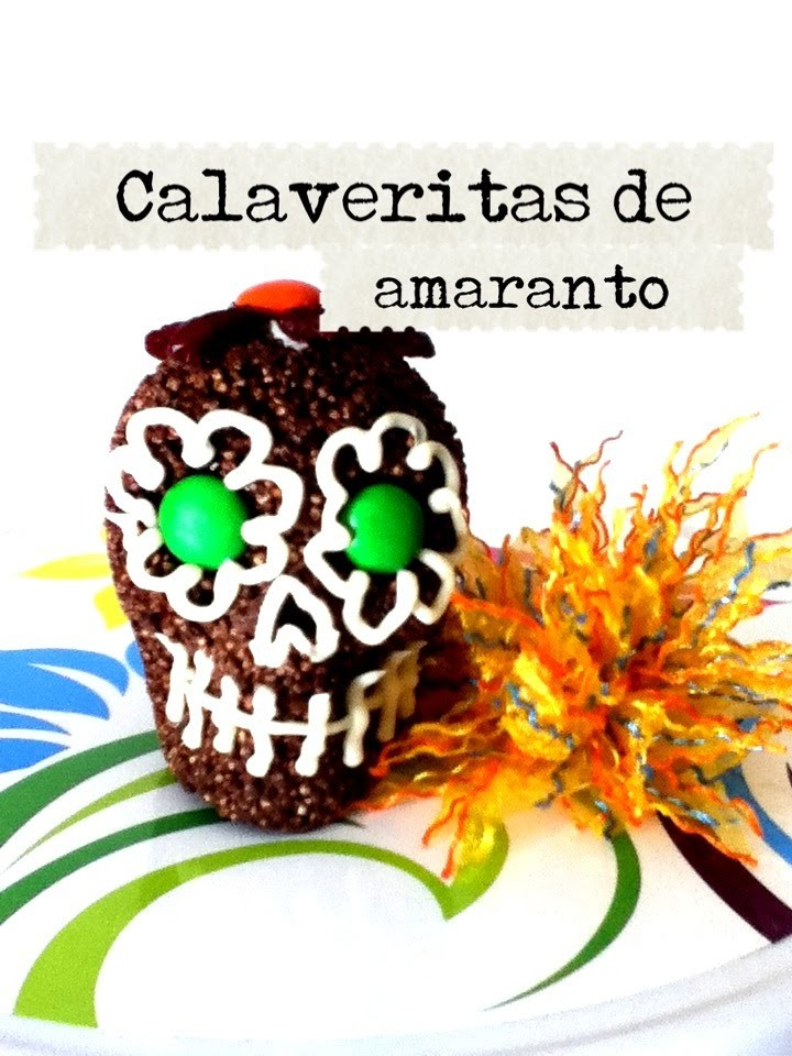 DIY Calavera de amaranto con chocolate arándanos día de muertos Halloween Skull amaranth