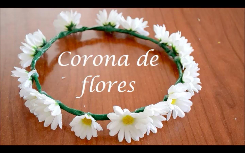 DIY Corona de flores fácil. Easy daisy flower crown. VLOGS EVRIGÜER