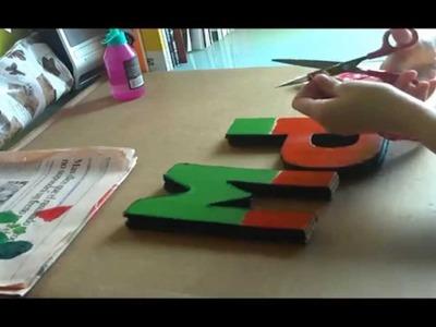 DIY - Decorando letras de cartón Parte 2