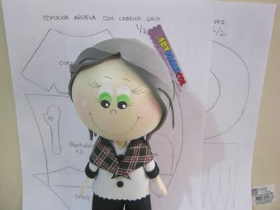 FOFUCHA ABUELITA CON SHALL PASO A PASO MAS PATRONES O MOLDES PARTE 1 DE 2