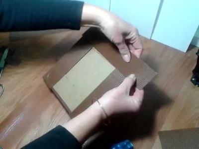 Manualidades: cómo hacer un marco con cartón - reciclar cartón haciendo un marco