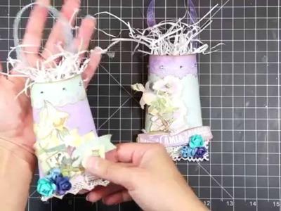 Manualidades con rollos de papel higiénico: Bolsitas