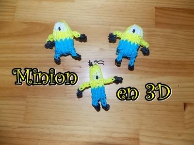 Minion 3D con telar rainbow loom