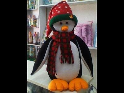 Moldes para realizar un Pingüino navideño