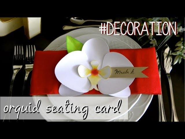 Orchid seating card - Orquídea marcasitios
