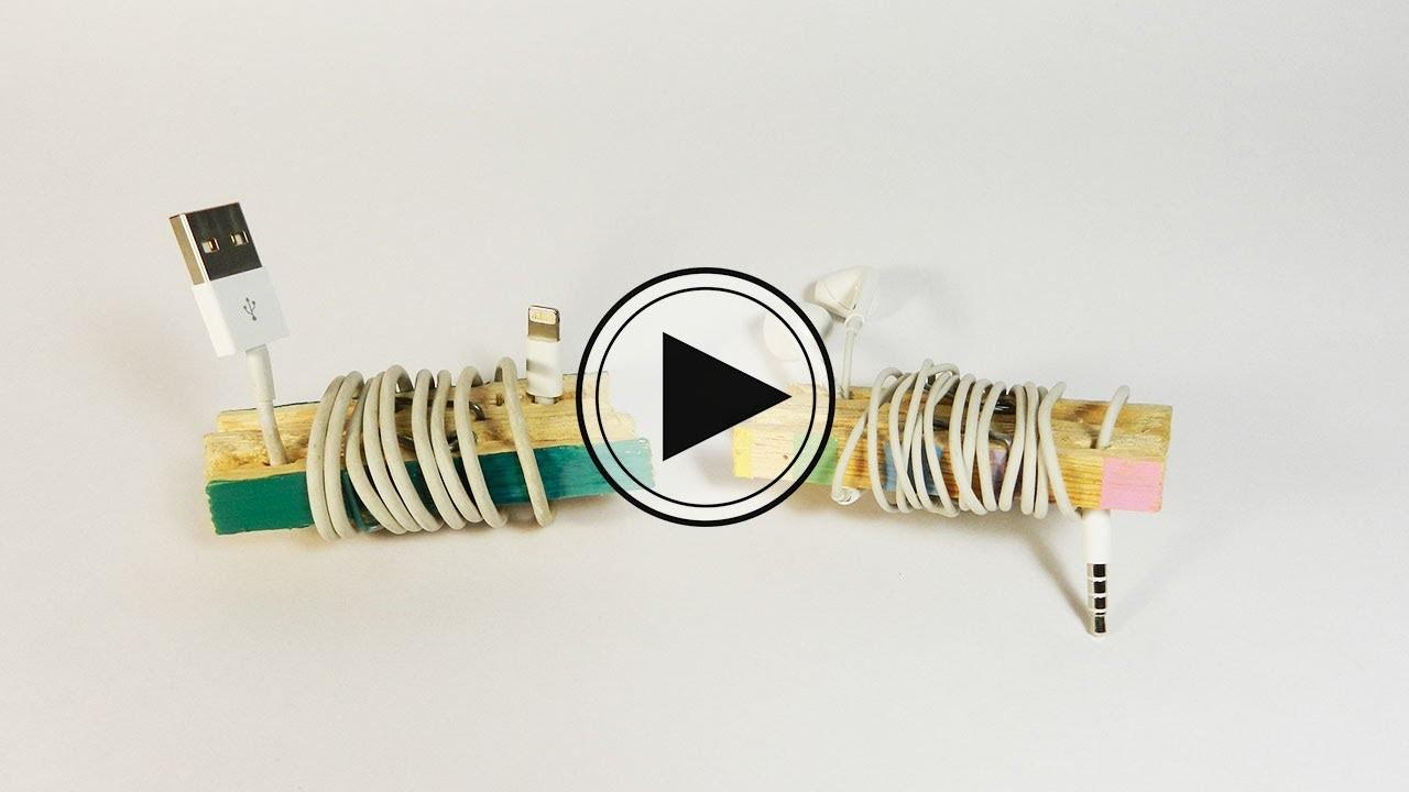 Organiza tus cables con pinzas. Big Crafts