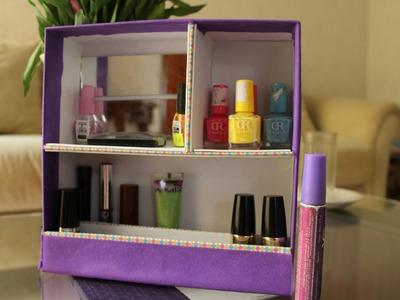 Organizador de maquillaje + reciclaje