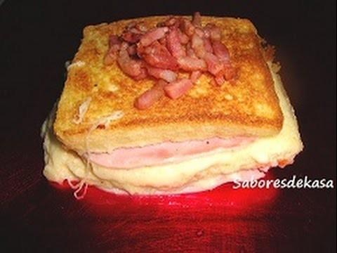 Pastel de jamón y queso con beicon