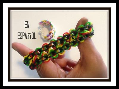 Rainbow Loom en ESPAñOL - Pulsera de Gomita DIY - Taffy Twist