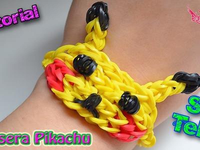 ♥ Tutorial: Pulsera Pikachu (sin telar) ♥