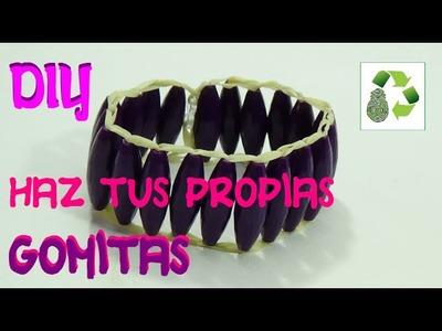 118. DIY COMO HACER PULSERA DE GOMITAS RECICLADAS [FACIL] (BRAZALETE) CREA TUS PROPIAS GOMITAS