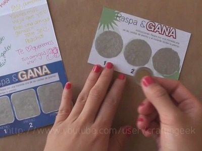 Carta RASPA&GANA. idea regalo - dia del amigo