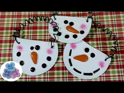 Como Hacer Adornos de Muñecos de Nieve para Navidad con Arcilla Navideños 2014 Pintura Facil