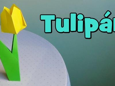 Cómo hacer un Tulipán de Papel