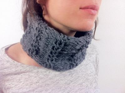 Cómo hacer una bufanda o cuello trenzado con un telar circular