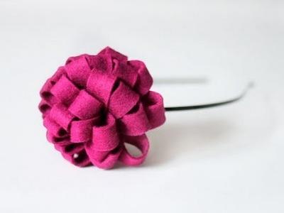 Cómo hacer una diadema con una flor de fieltro