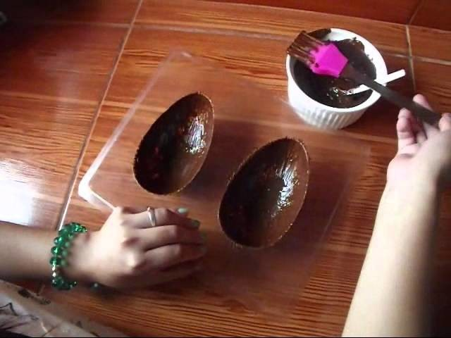 DIY: Huevos de Pascua de Chocolate. Chocolate Easter Eggs
