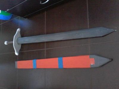 Fabricando la espada de Trunks con funda (Materiales económicos)