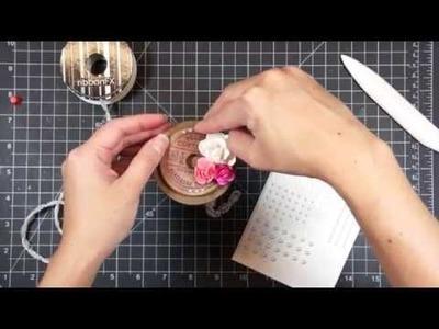 Manualidades con rollos de papel higiénico:  Carrete. Spool Shabby Chic