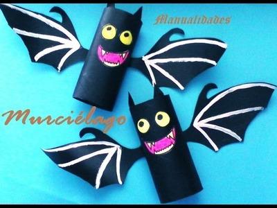 Manualidades. Murciélago para decorar en Halloween, sencillo
