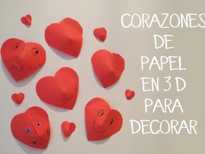 Manualidades para niños: Corazones 3D de papel