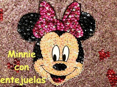 Minnie Mouse con lentejuelas para fiestas. Minnie mouse party ideas