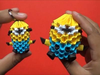Origami 3D Llavero de minion (mini minion)