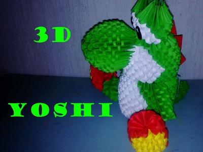 Origami 3D Yoshi - Mario Bros