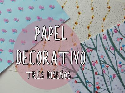 Papel decorativo con estampado de flores ¡Muy fácil!